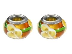 2PCS Stainless Steel Bead For Jewelry