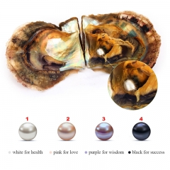 Vacuum-Packed 6-7mm Round Akoya Pearls in Oyster White Pink Lavender Black Saltwater Pearl SCP000