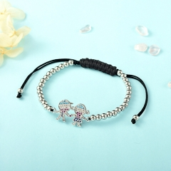 Stainless Steel Bracelet with Copper Charms TTTB-0001A