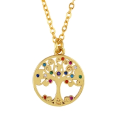 Stainless Steel Chain and Brass Pendant Necklace TTTN-0049