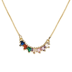 Stainless Steel Chain and Brass Pendant Necklace TTTN-0016