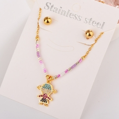 Stainless Steel Jewelry set Necklace  XXXS-0193