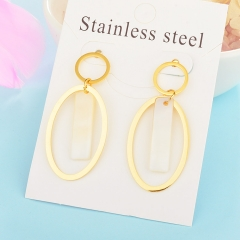 Fashion temperament long pendant earring shell stainless steel earrings women XXXE-0098