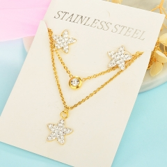 Stainless Steel Jewelry set Necklace  XXXS-0216