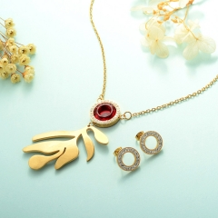 Stainless Steel Jewelry Set 18k Gold Jewelry Wholesale  XXXS-0237