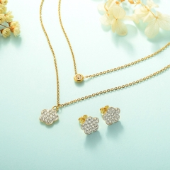 Manufacture ladies jewellery, Stainless Steel Jewelry Set 18k Gold Jewelry Wholesale  XXXS-0221