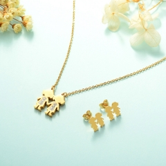 Manufacture ladies jewellery, Stainless Steel Jewelry Set 18k Gold Jewelry Wholesale  XXXS-0222